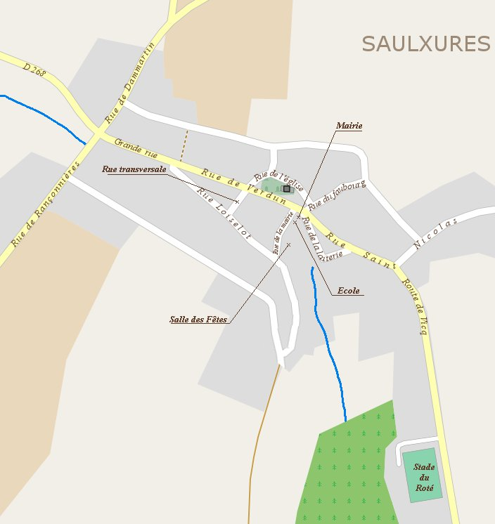 Plan d'ensemble de Saulxures